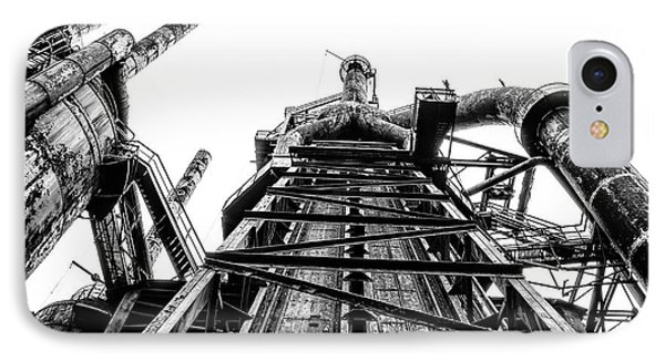 Industrial Age - Bethlehem Steel In Black And White IPhone Case by Bill Cannon