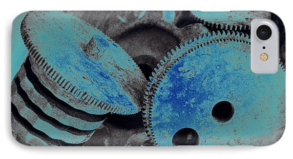Industrial Blues IPhone Case by Marnie Patchett