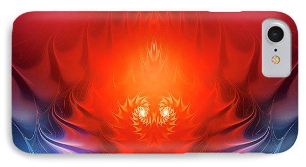 IPhone Case featuring the digital art Inferno by Jutta Maria Pusl