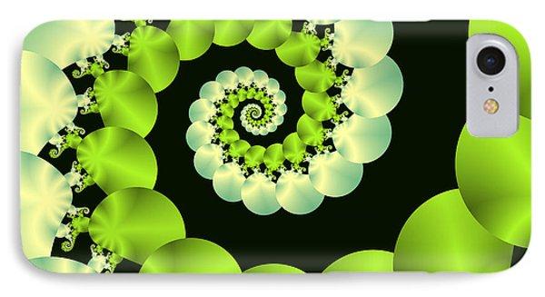 Infinite Chartreuse IPhone Case by Sandra Bauser Digital Art