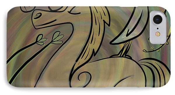 IPhone Case featuring the painting Infinite Pony Palomino by Marti McGinnis