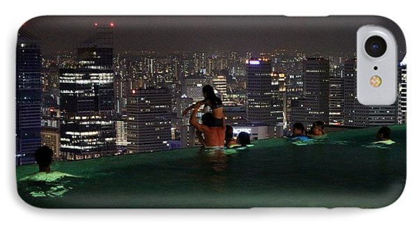 Infinity Pool At Marina Bay Sands Hotel IPhone Case by Diane Height