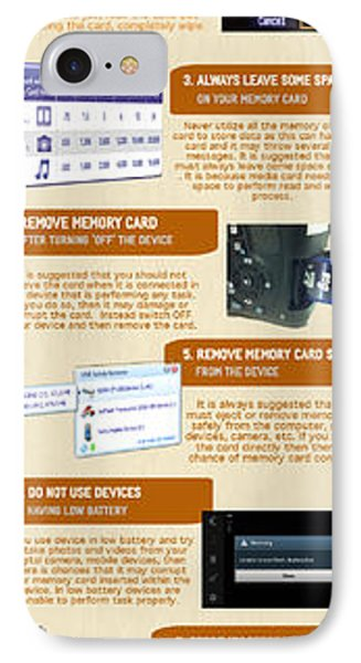 Infographic10 Tips To Avoid Memory Card Errors And Corruptions IPhone Case by Henri Charles
