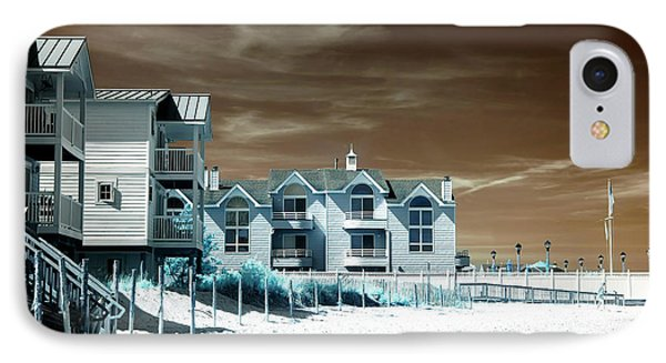 Infrared Beach House Angles IPhone Case by John Rizzuto