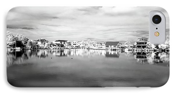 Infrared Beach Houses On The Water Phone Case by John Rizzuto