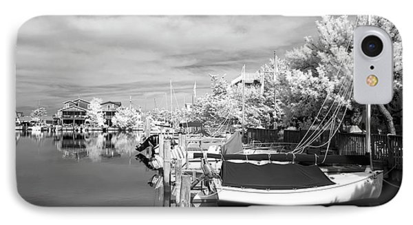 Infrared Boats At Lbi Bw Phone Case by John Rizzuto