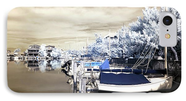 Infrared Boats At Lbi Phone Case by John Rizzuto