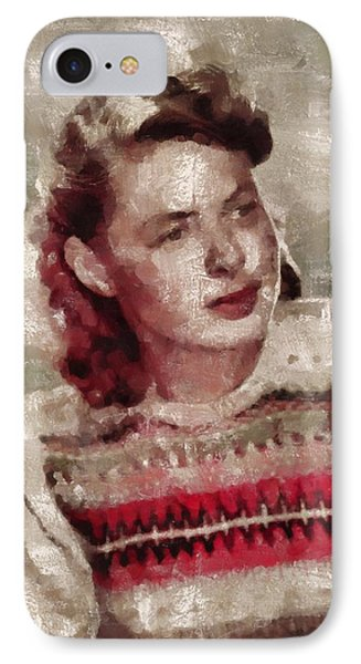 Ingrid Bergman, Actress IPhone Case by Mary Bassett