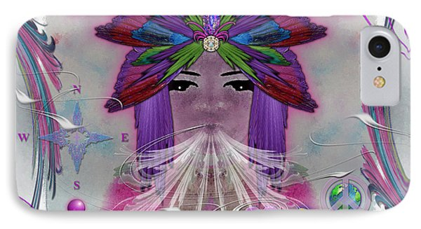 IPhone Case featuring the digital art Inhaling Exhaling Peace by Barbara Tristan