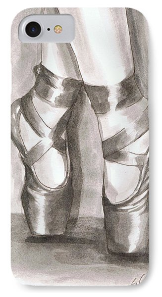 IPhone Case featuring the painting Ink Wash En Pointe by Sarah Farren