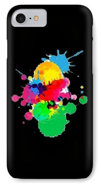 Inkblots T-shirt IPhone Case by Herb Strobino