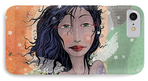 Inked Angel  IPhone Case by Dennis Wunsch