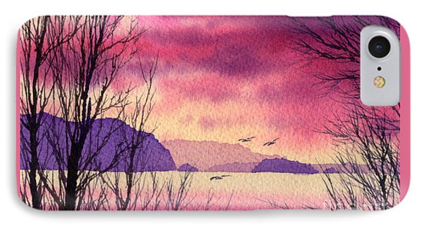 IPhone Case featuring the painting Inland Sea Islands by James Williamson