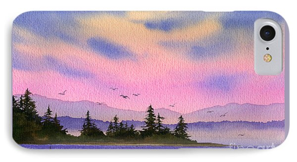 IPhone Case featuring the painting Inland Sea Sunset by James Williamson