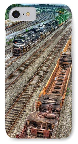 IPhone Case featuring the photograph Inman Intermodal Yard Atlanta Norfolk Southern Railway Locomotive 2665 Art by Reid Callaway