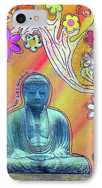 IPhone Case featuring the mixed media Inner Bliss by Desiree Paquette