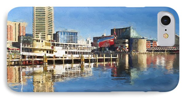 Inner Harbor Reflections  IPhone Case by Kerri Farley