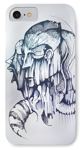 IPhone Case featuring the drawing Inner Voice by Keith A Link