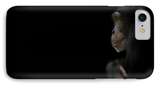 Chimpanzee iPhone 7 Case - Innocence by Paul Neville