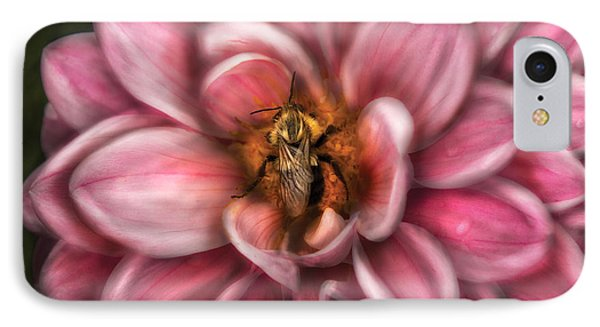 Insect - Bee - Center Of The Universe  Phone Case by Mike Savad