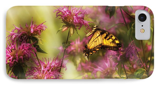 Insect - Butterfly - Golden Age  IPhone Case by Mike Savad