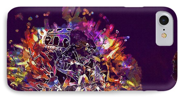 IPhone Case featuring the digital art Insect Bug Bee Beetle  by PixBreak Art