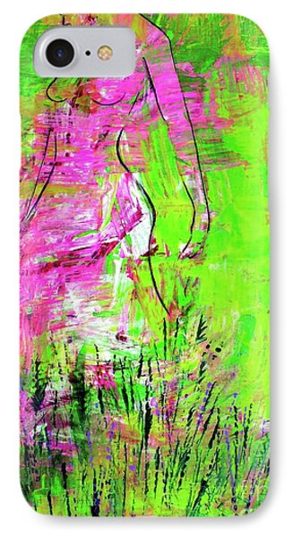 IPhone Case featuring the painting Inside And Out by Julie Hoyle