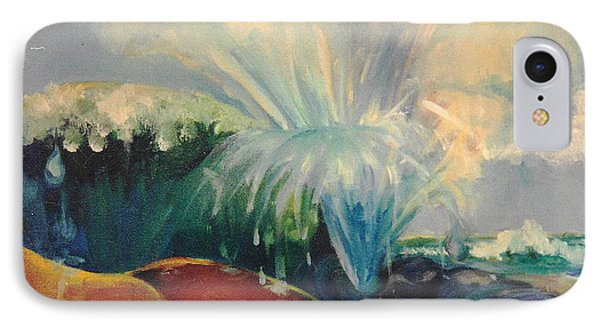 IPhone Case featuring the painting Inside Mommy's Waters by Daun Soden-Greene