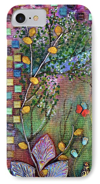 Inside The Garden Wall IPhone Case by Donna Blackhall