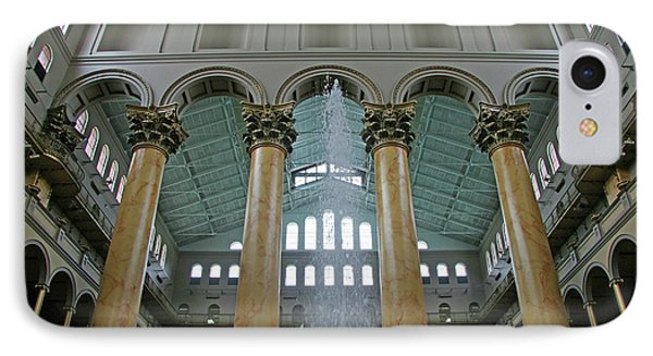 Inside The National Building Museum IPhone Case by Cora Wandel