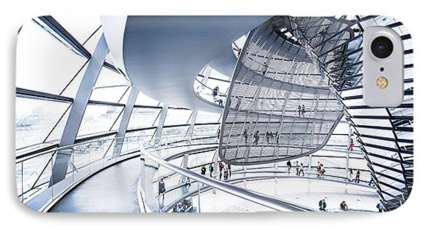 Inside The Reichstag Dome IPhone Case by JR Photography