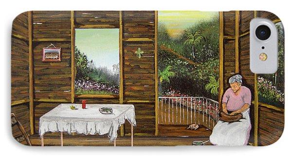 Inside Wooden Home Phone Case by Gloria E Barreto-Rodriguez