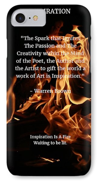 Inspiration And Creativity Phone Case by Warren Brown