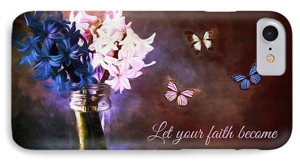 Inspirational Flower Art IPhone Case by Tina LeCour