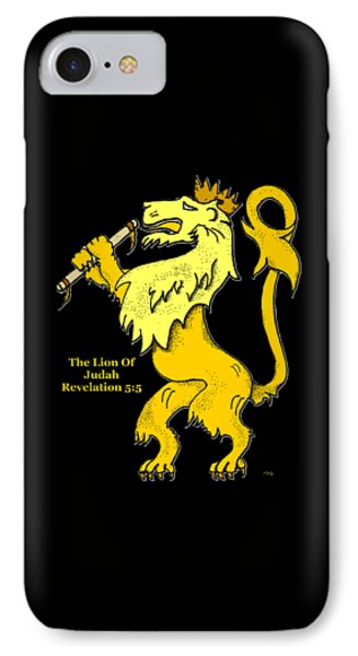 IPhone Case featuring the drawing Inspirational - The Lion Of Judah by Glenn McCarthy Art and Photography
