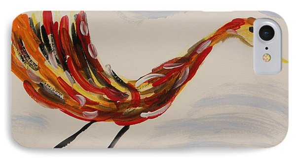 Inspired By Calder's Only Only Bird IPhone Case by Mary Carol Williams