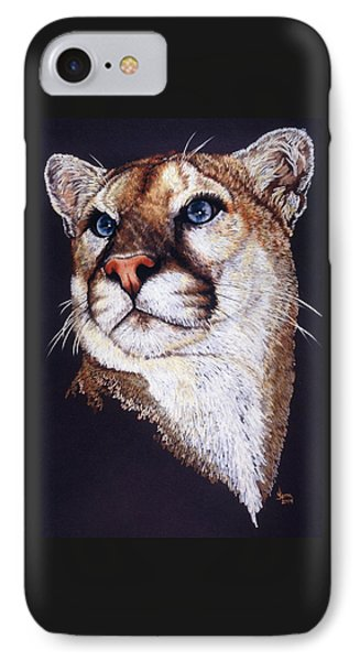 IPhone Case featuring the drawing Intense by Barbara Keith