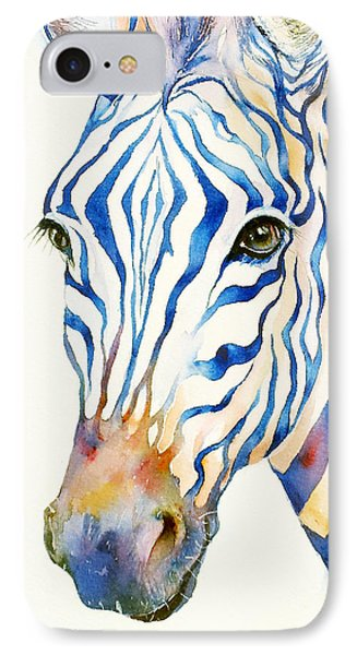 Intense Blue Zebra IPhone 7 Case by Arti Chauhan