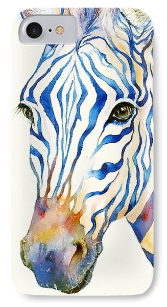 Intense Blue Zebra IPhone Case
