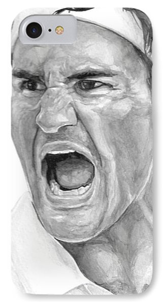 Intensity Federer IPhone Case by Tamir Barkan