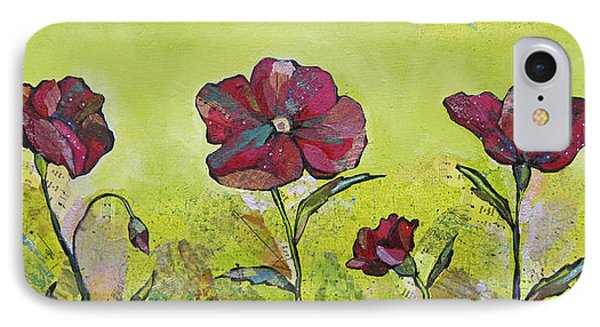 Intensity Of The Poppy II IPhone Case by Shadia Derbyshire