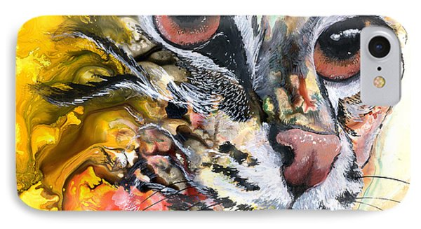 IPhone Case featuring the painting Intensity by Sherry Shipley