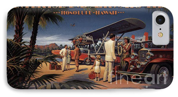 Inter Island Airways-honolulu Hawaii IPhone Case by Nostalgic Prints