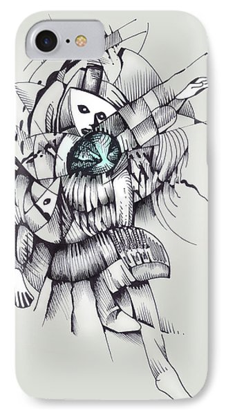 IPhone Case featuring the drawing Interallied by Keith A Link