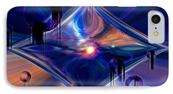 IPhone Case featuring the digital art Interdimensional Portal by Linda Sannuti