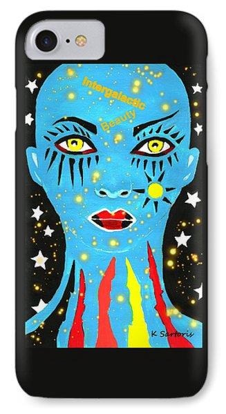 Intergalactic Beauty IPhone Case by Kathleen Sartoris