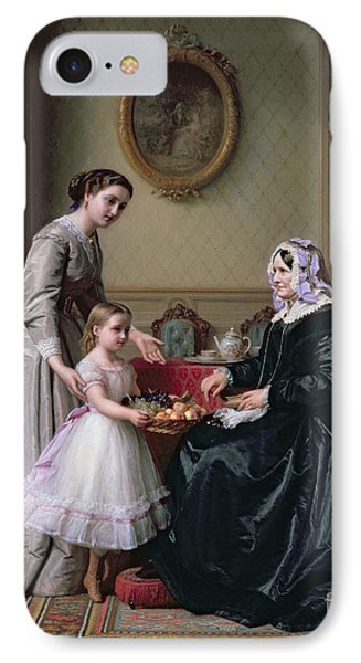Interior At 'the Chestnuts' Wimbledon Grandmother's Birthday IPhone Case by J L Dyckmans