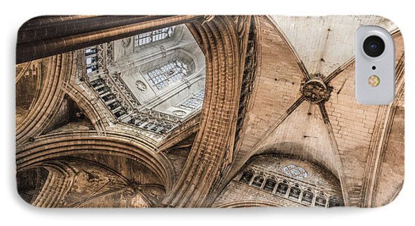 Interior Barcelona Cathedral Phone Case by Chas Hauxby