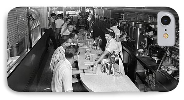 Interior Of A Busy Diner, C.1950-60s IPhone Case