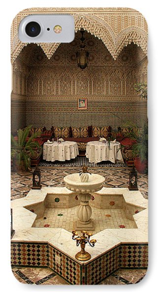 Interior Of A Traditional Riad In Fez IPhone Case